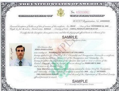 Certificate of Citizenship using Form N-600