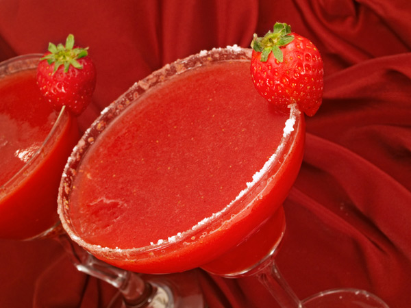 Hispanic Strawberry Beer margaritas