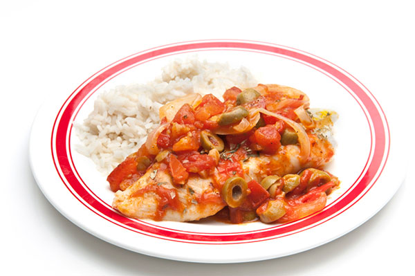 Mexican Baked Tilapia and Tomatoes