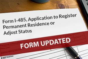 Form I-485 Updated