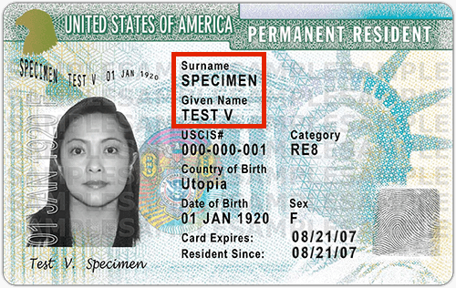 How To Change Name On Green Card 2018