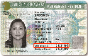 green card expiration date