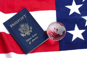 US flag & Passport