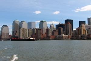 New York Skyline with Ship