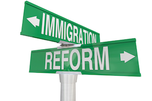 Immigration Reform Road Signs Changing Legal Residency Status Aliens